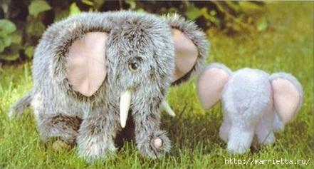 Как сшить игрушку из искусственного меха. Выкройка слоника, собачки и мишки (3) (441x237, 82Kb)