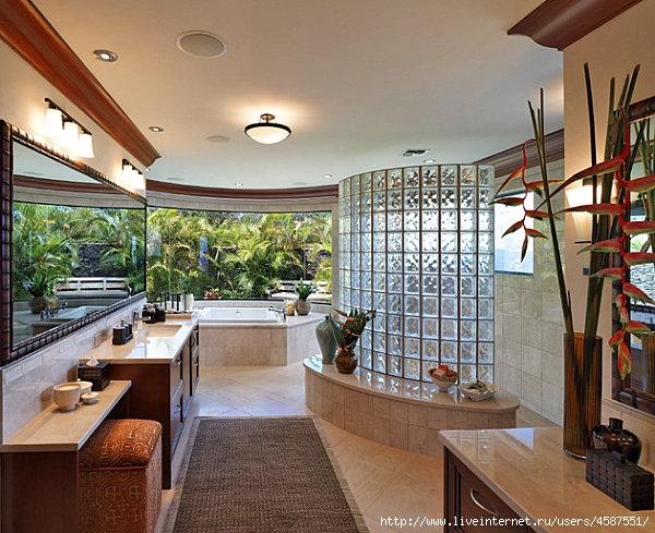 Glass block bathrooms