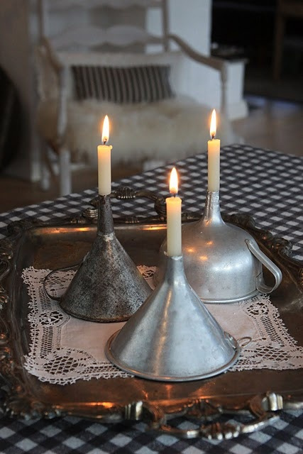 upcycle-old-funnels-as-candle-holders (427x640, 89Kb)