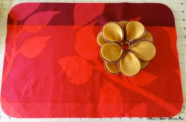 Hermosas almohadas con flores hechas de fieltro.  Ideas y master class (7) (600x395, 157Kb)