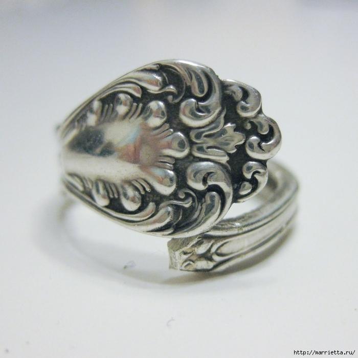 Как сделать кольцо из серебряной ложки (1) (700x700, 290Kb)