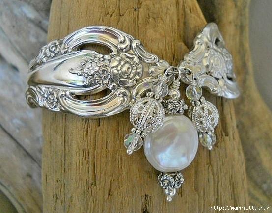 Как сделать кольцо из серебряной ложки (9) (554x434, 182Kb)