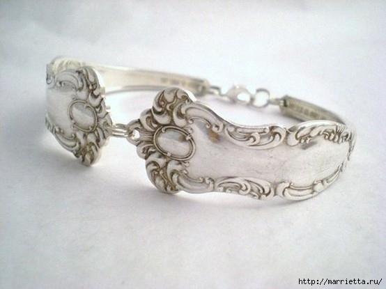 Как сделать кольцо из серебряной ложки (13) (554x415, 108Kb)