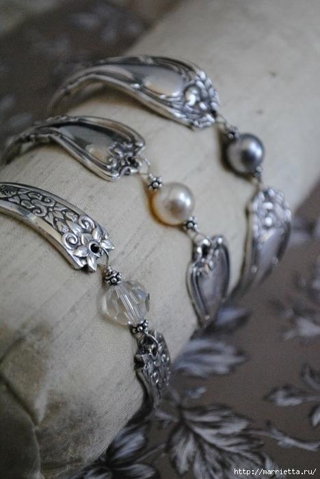 Как сделать кольцо из серебряной ложки (30) (468x700, 213Kb)