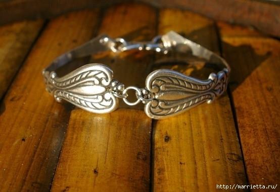 Как сделать кольцо из серебряной ложки (32) (554x379, 132Kb)