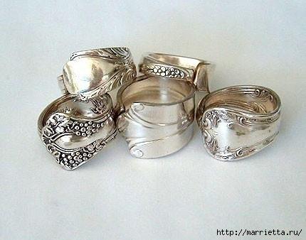 Как сделать кольцо из серебряной ложки (45) (430x338, 91Kb)