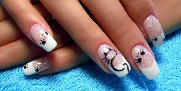 рисунки на ногтях гелевой ручкой: