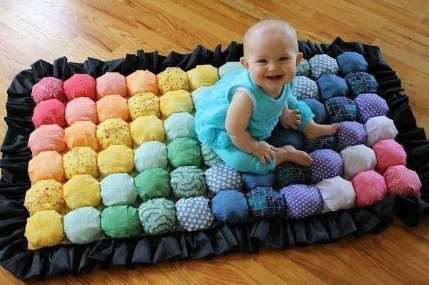 Как сшить мягкий коврик для