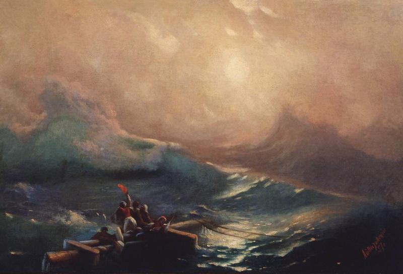 Девятый вал.Этюд 1857