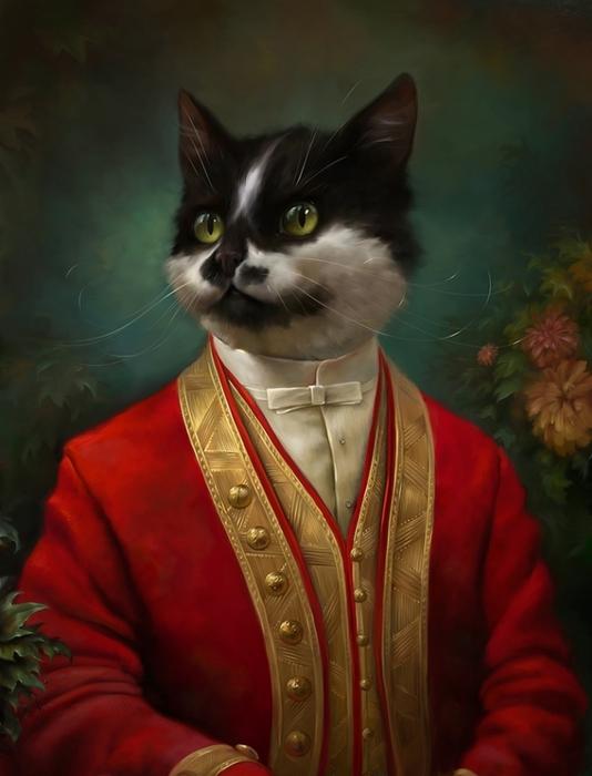 портреты кошек Эльдар Закиров 1 (534x700, 185Kb)
