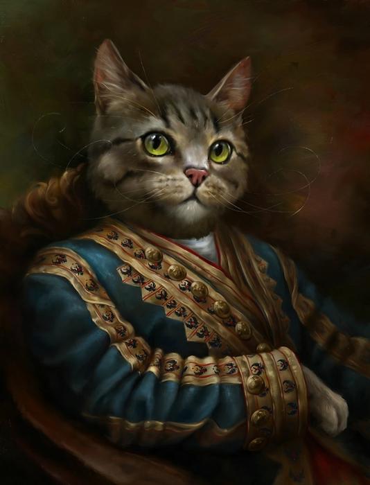 портреты кошек Эльдар Закиров 3 (534x700, 201Kb)