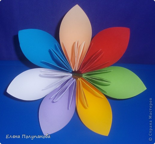 Цветик-семицветик своими руками из картона