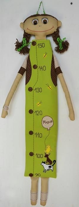"""手工布艺:""""玩偶娃娃身高测量尺"""" - maomao - 我随心动"""