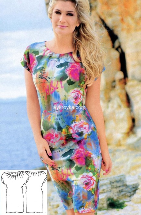 Выкройки модных платьев бесплатно 3