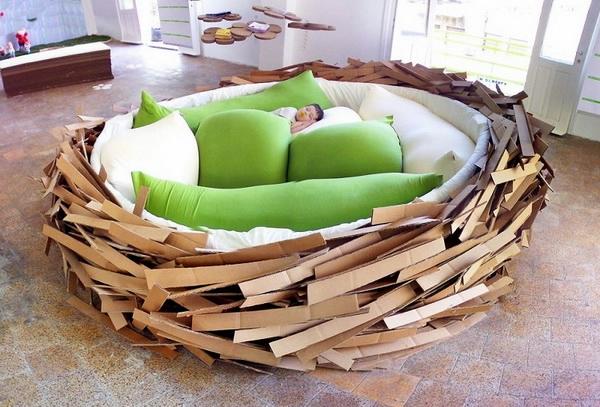 дизайнерская мебель кровать-гнездо 1 (600x407, 213Kb)