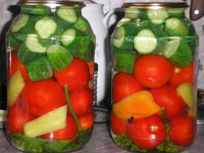 Заготовки на зиму! Ассорти из овощей!