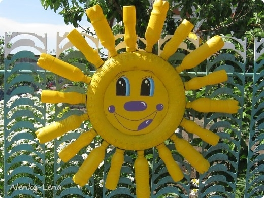 Солнышко из покрышек пошагово
