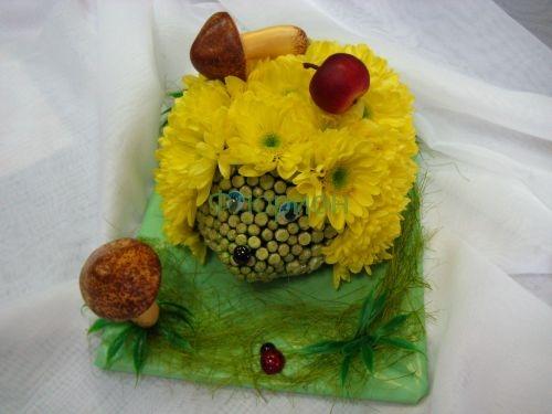 Поделка из живых цветов своими руками для детского сада 96