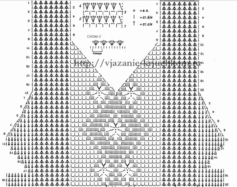 Схемы вязания моделей филейным вязанием 868