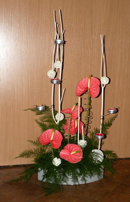 Флористический декор. Очень красивые идеи! (13) (453x700, 248Kb)