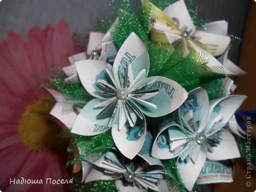 Топиарий с цветами оригами