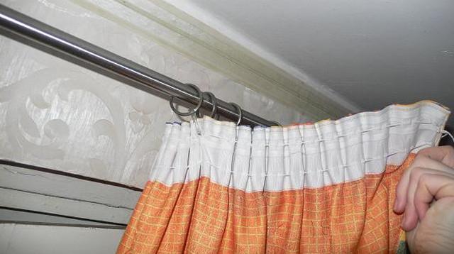 Занавески на лентах