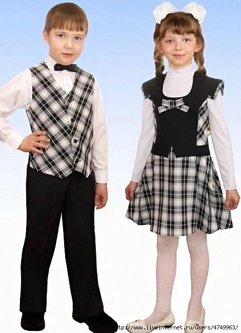 Школьная форма для первоклашек девочек своими руками