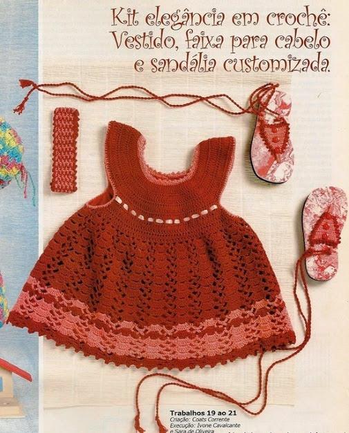 Вязаные платья для девочек