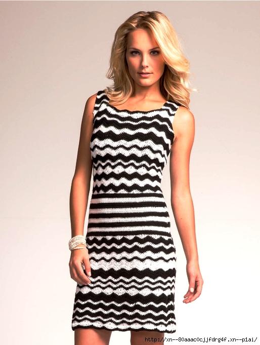 Пестрое платье