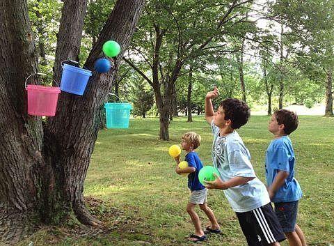 Интересные конкурсы для детей на воздухе
