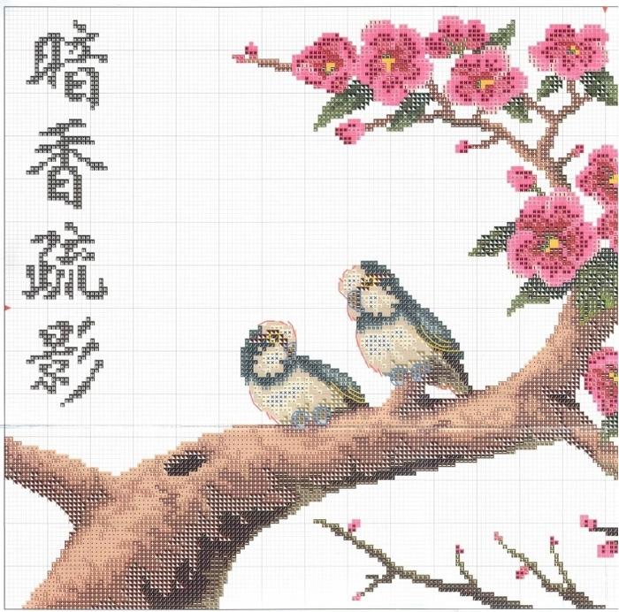 Stitchart-Apricot-tree1 (700x692, 366Kb)