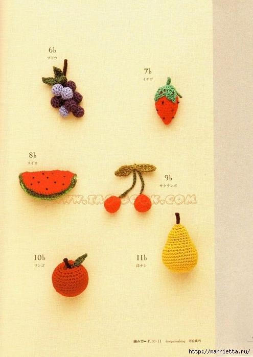 Цветочки, ягоды-фрукты, игрушки и другие мотивы крючком (7) (495x700, 248Kb)