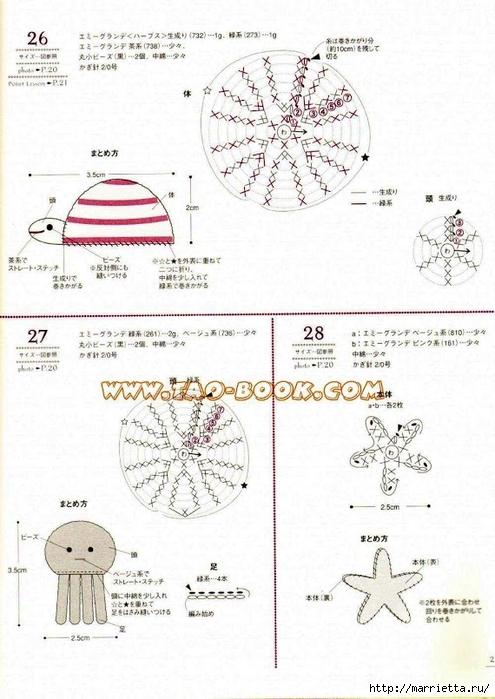 Цветочки, ягоды-фрукты, игрушки и другие мотивы крючком (21) (495x700, 239Kb)