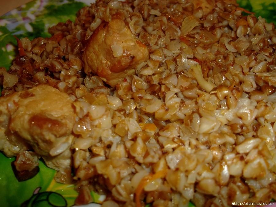 Гречка с курицей на сковороде рецепт пошагово в домашних условиях