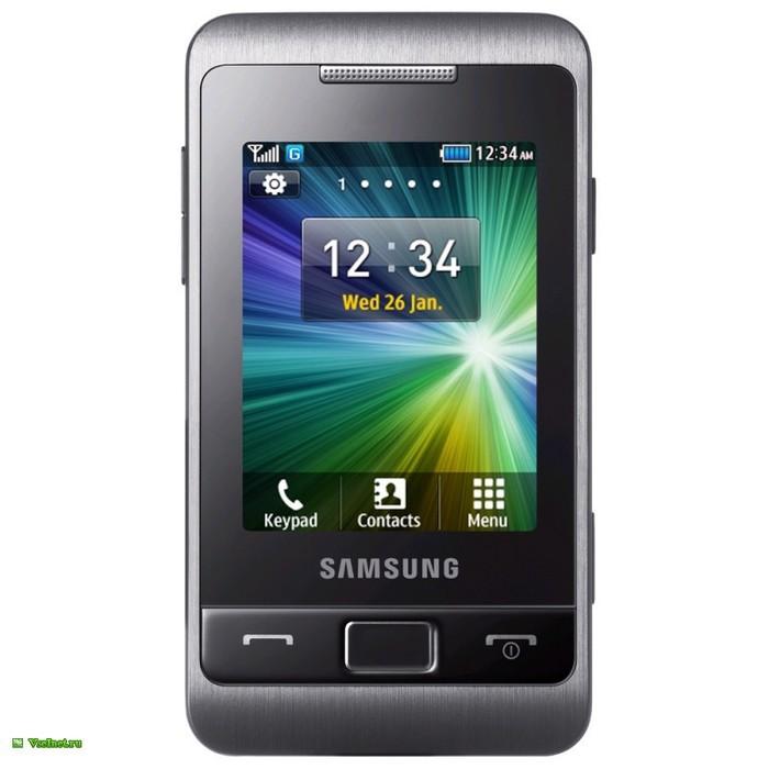 Телефон мобильный (сотовый) моноблок Samsung GT-S3332 чёрный (700x700, 60Kb)