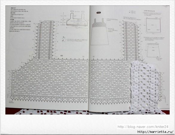 Сарафан из кокетки крючком и шифонового платка (6) (586x454, 153Kb)