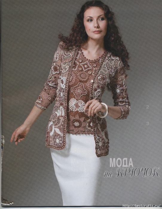 Вязание крючком. Журнал Мод 566. Отличные летние модели (5) (542x700, 282Kb)