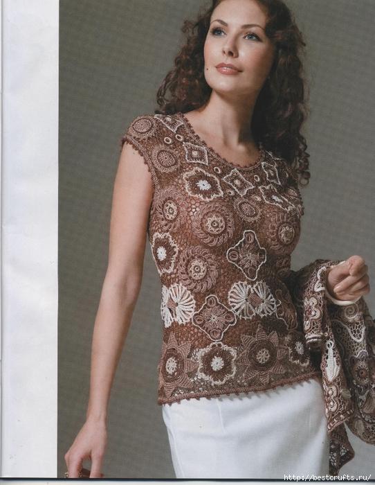 Вязание крючком. Журнал Мод 566. Отличные летние модели (9) (542x700, 294Kb)