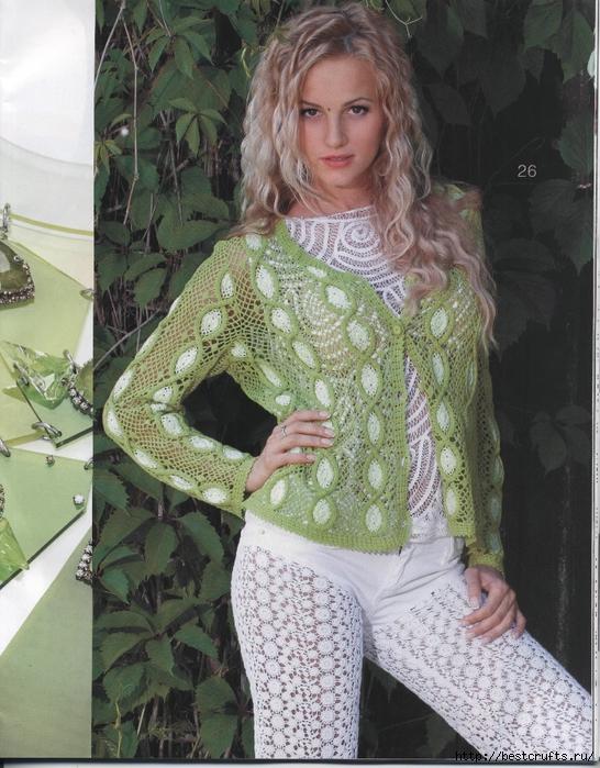 Вязание крючком. Журнал Мод 566. Отличные летние модели (71) (546x700, 341Kb)