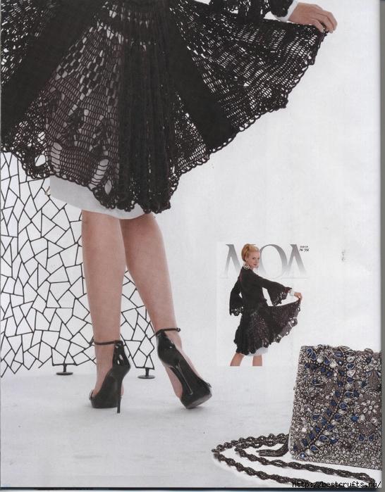 Вязание крючком. Журнал Мод 566. Отличные летние модели (98) (546x700, 302Kb)