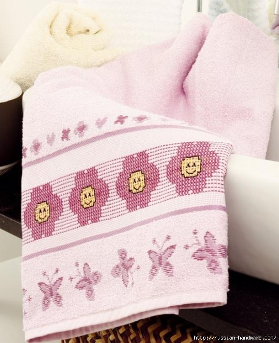 Схемы вышивки для украшения банного полотенца (2) (569x700, 275Kb)