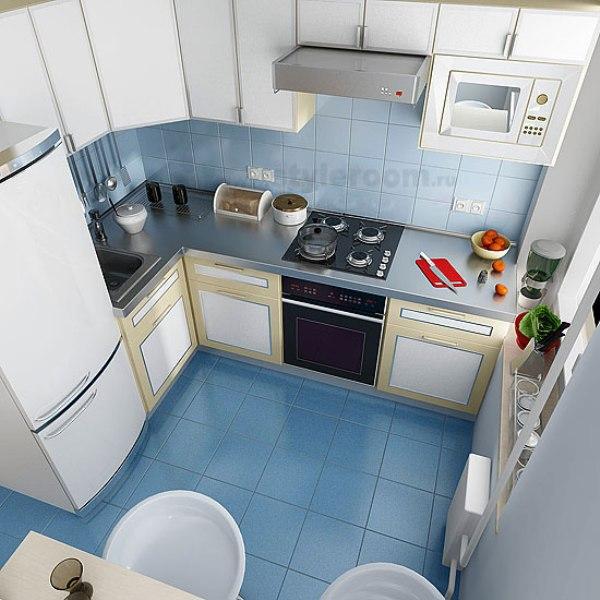 Дизайн кухни в 7 м2