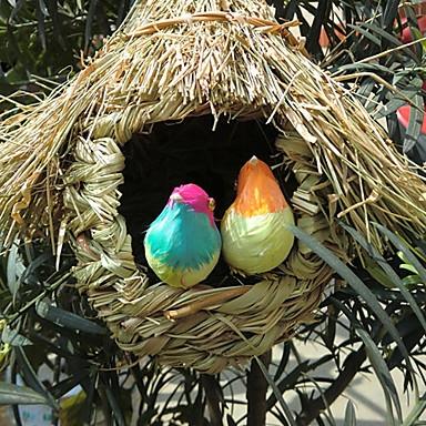 Как сделать гнездо из соломы своими руками