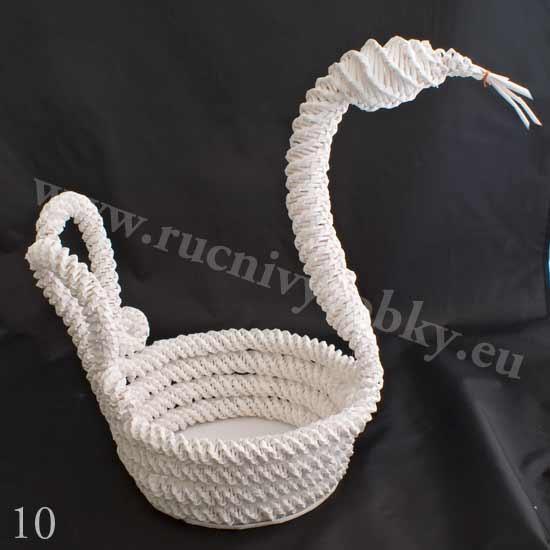 плетение из газет. белый лебедь (10) (550x550, 76Kb)