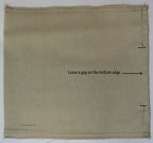 Мастер-класс. Как сшить мешочек на кулиске, с подкладкой (1)