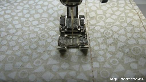 Мастер-класс. Как сшить мешочек на кулиске, с подкладкой (9)