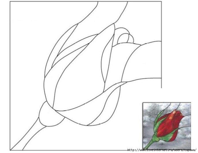 Цветы для аппликации шаблоны - adf