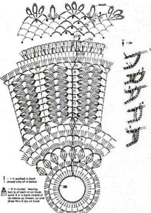 Абажур вязание крючком схемы
