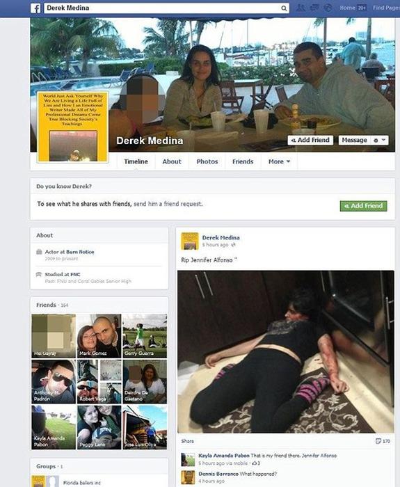 Убийца выложил фото жены в Интернете