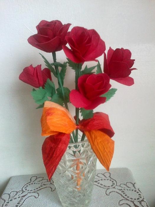 Цветы из гофрированной бумаги. Несколько мастер-классов (40) (525x700, 261Kb)